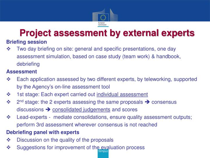 Project assessment by external experts