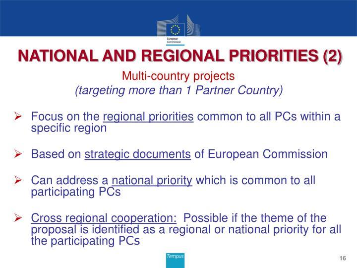 NATIONAL AND REGIONAL PRIORITIES (2)