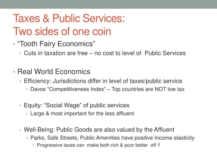 Taxes & Public Services: