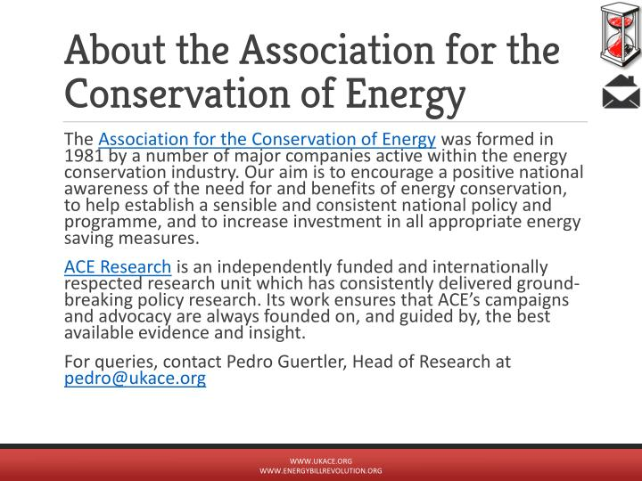 About the Association for the Conservation of Energy