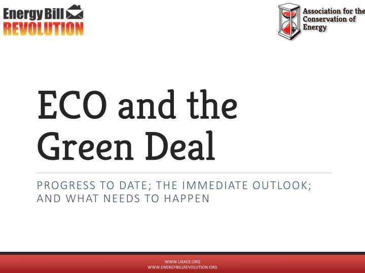 eco and the green deal