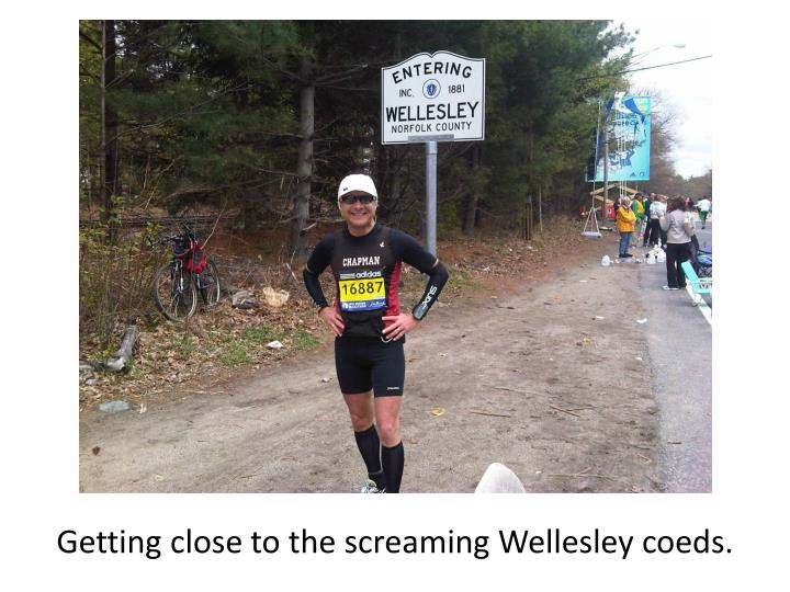 Getting close to the screaming Wellesley coeds.