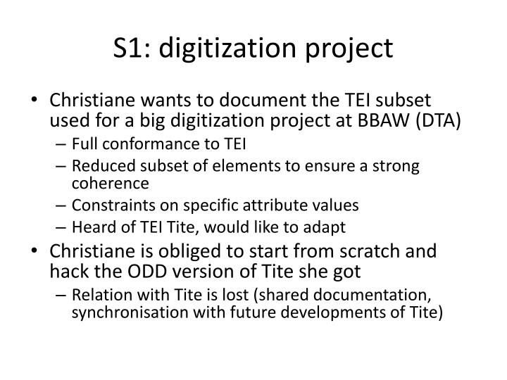 S1: digitization project