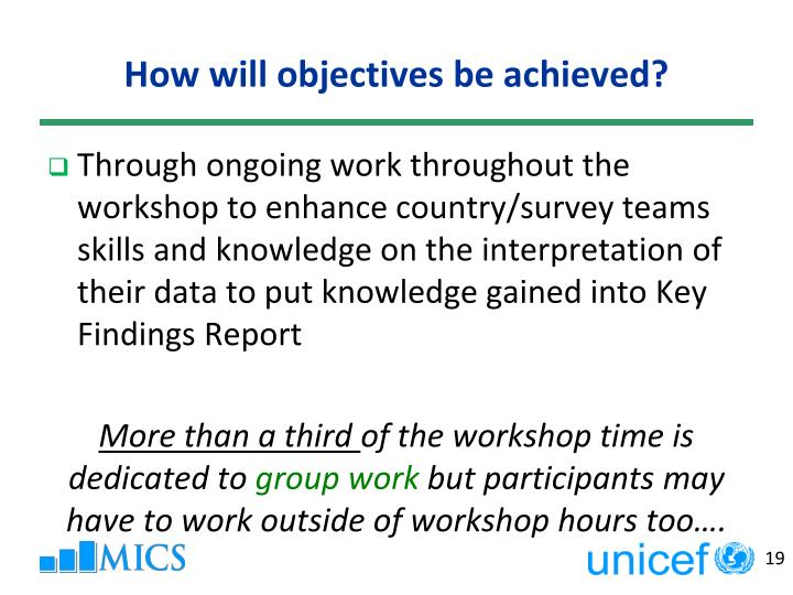 How will objectives be achieved?