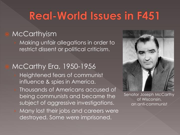 Real-World Issues in F451