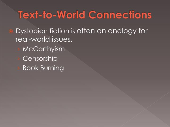 Text-to-World Connections
