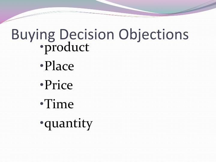 Buying Decision Objections