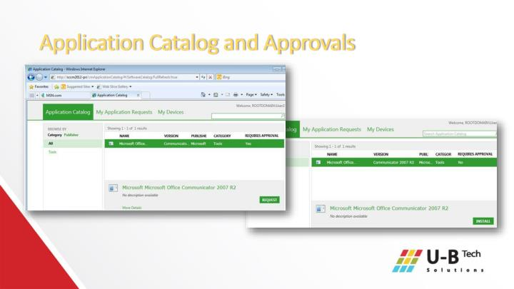 Application Catalog and Approvals