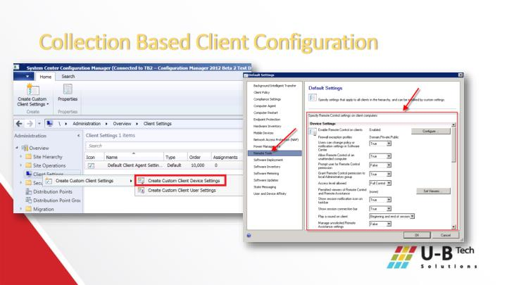 Collection Based Client Configuration