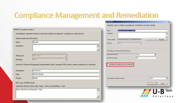 Compliance Management and Remediation