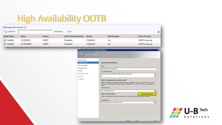 High Availability OOTB