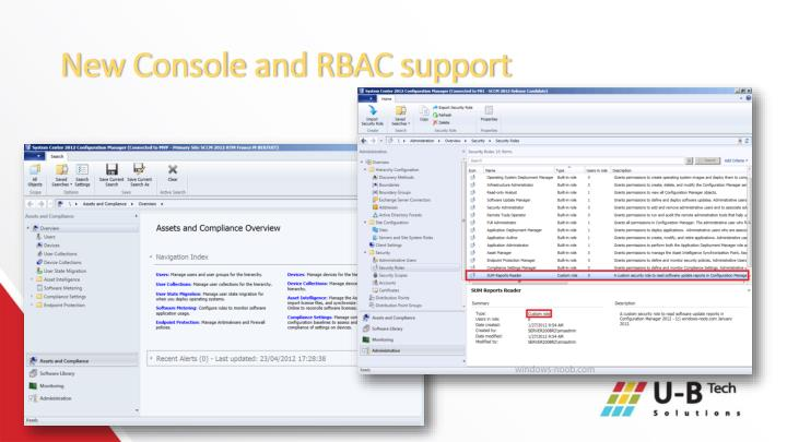 New Console and RBAC support