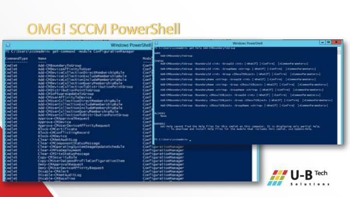 OMG! SCCM PowerShell