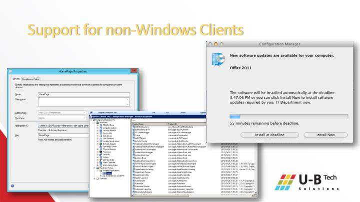 Support for non-Windows Clients
