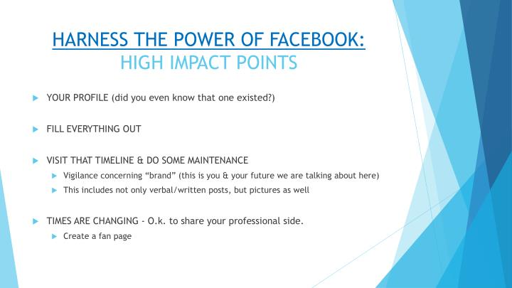 HARNESS THE POWER OF FACEBOOK: