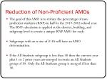 reduction of non proficient amos