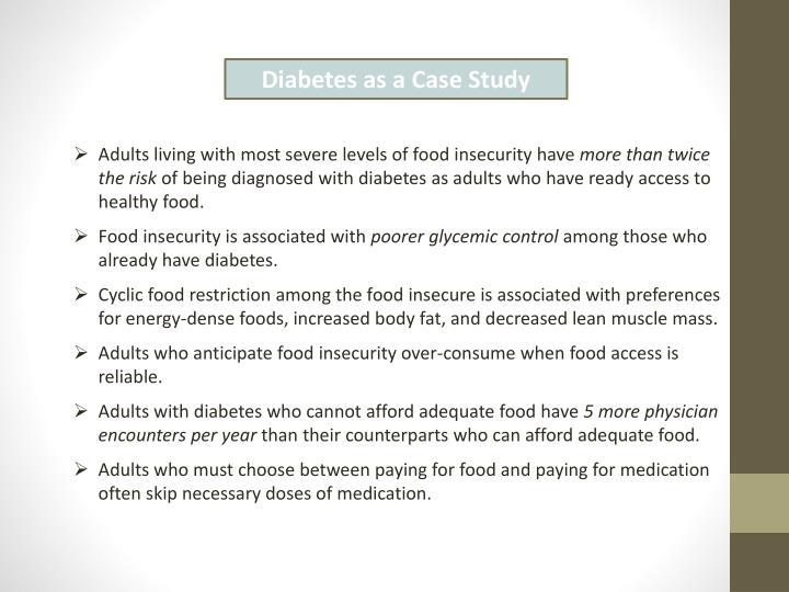 Diabetes as a Case Study