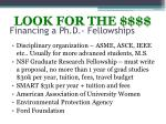 financing a ph d fellowships