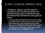 a 4 b criminal defense atty