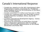 canada s international response