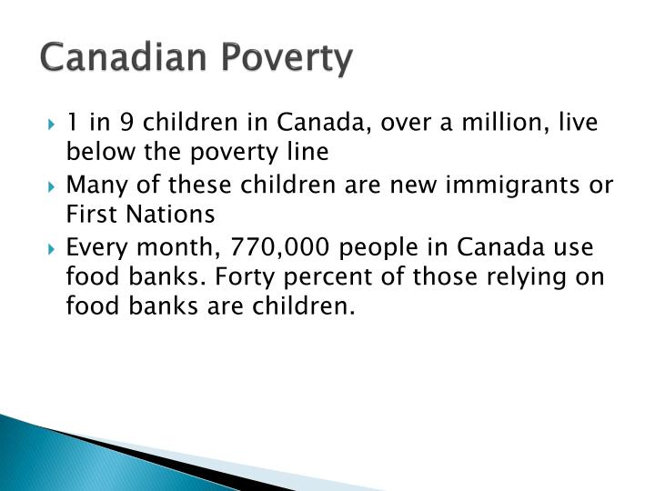 Canadian Poverty