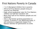 first nations poverty in canada
