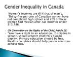 gender inequality in canada