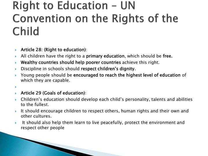Right to Education – UN