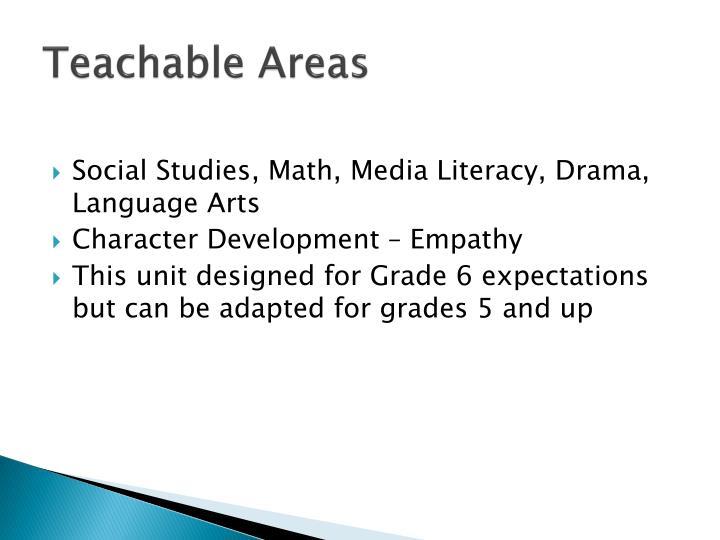 Teachable Areas