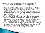 what are children s rights