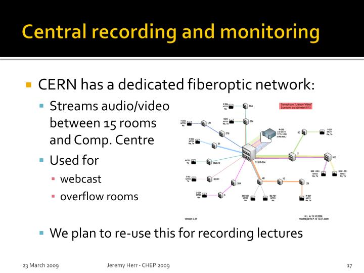 Central recording and monitoring