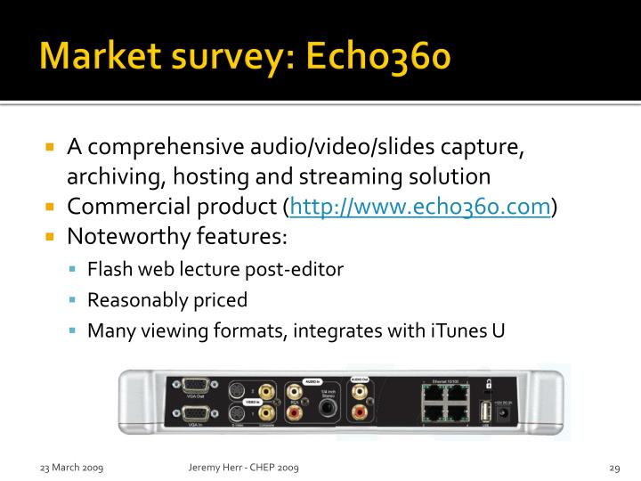 Market survey: Echo360