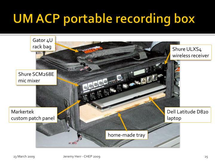 UM ACP portable recording box