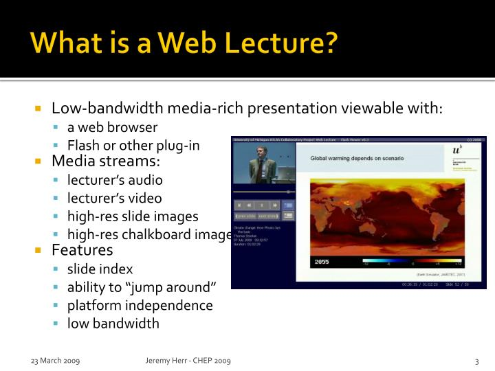 What is a Web Lecture?