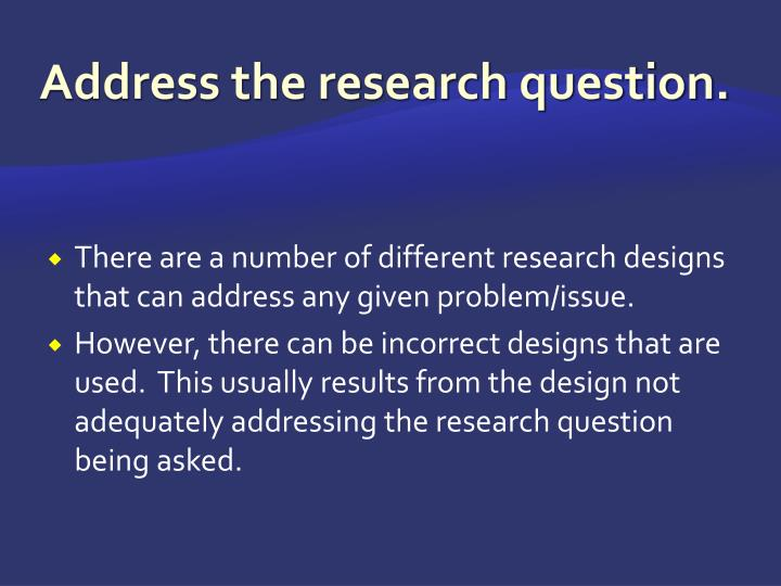 Address the research question.
