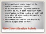 new identification rubric