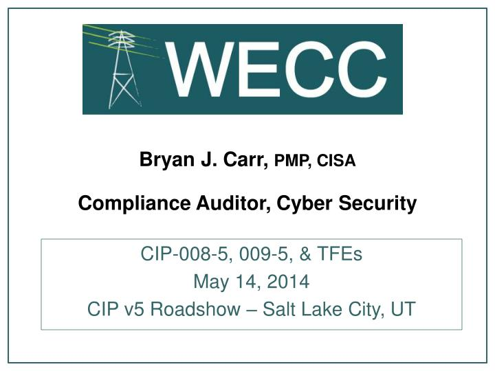 bryan j carr pmp cisa compliance auditor cyber security