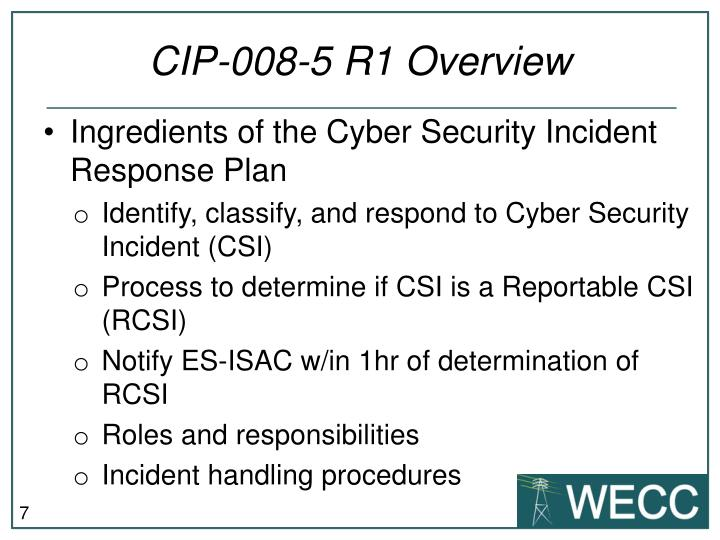 CIP-008-5 R1 Overview