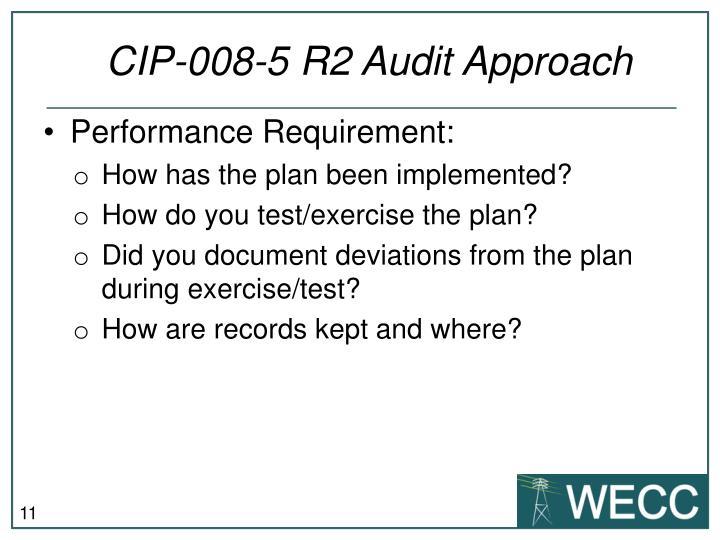 CIP-008-5 R2 Audit Approach