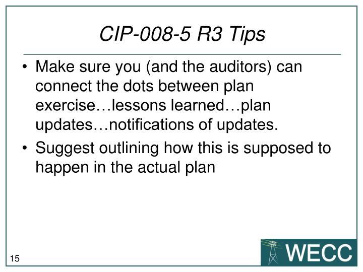 CIP-008-5 R3 Tips