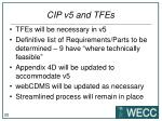 cip v5 and tfes