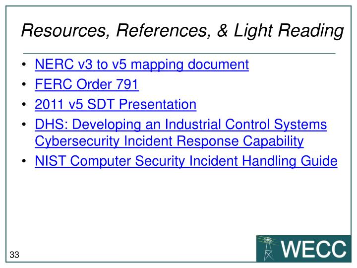 Resources, References, & Light Reading