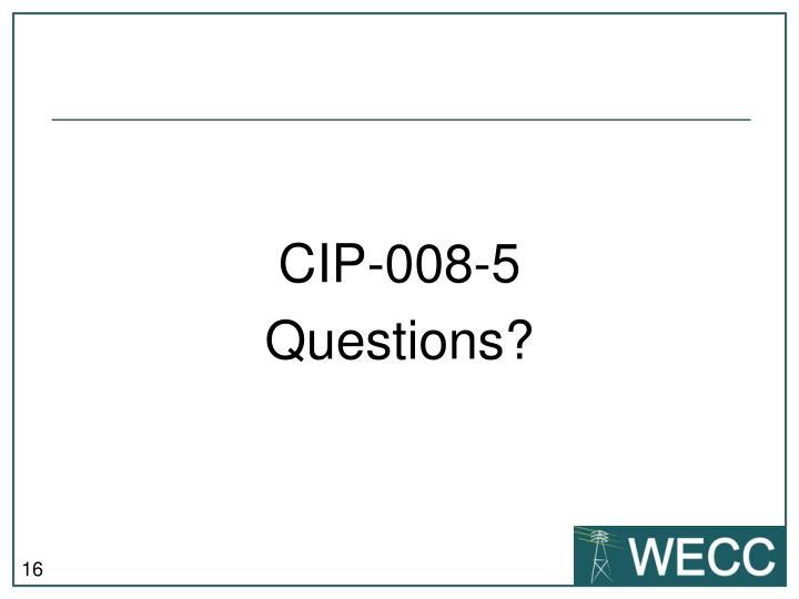 CIP-008-5