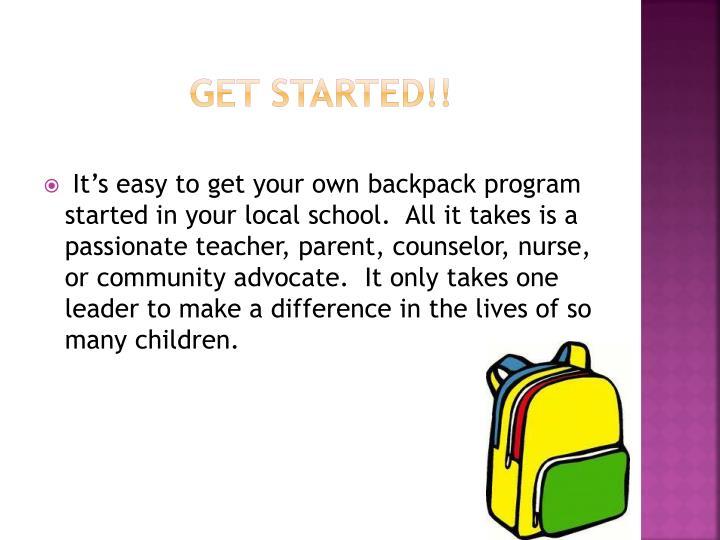 Get Started!!