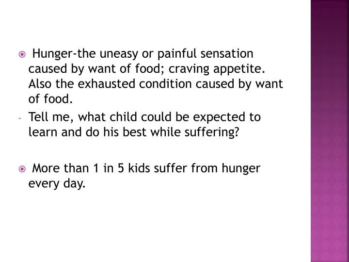 Hunger-the