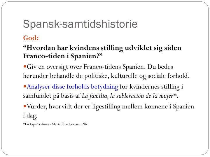 Spansk-samtidshistorie