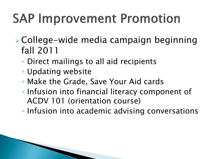 SAP Improvement Promotion
