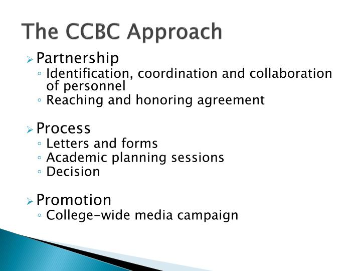 The CCBC Approach
