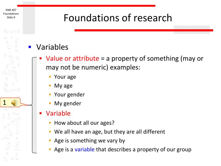Foundations of research