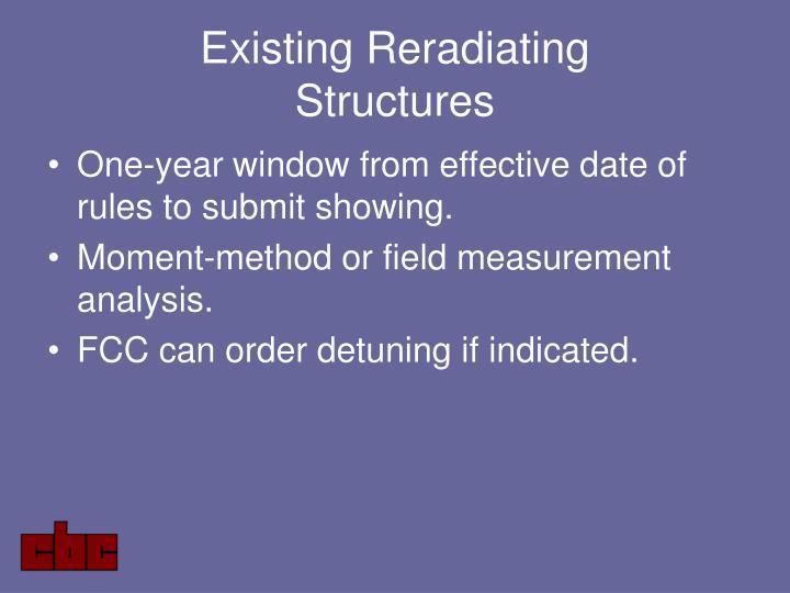Existing Reradiating